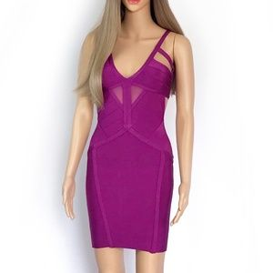 Dresses & Skirts - New. Muave Mini Bodycon Dress with open back